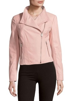 MARC NEW YORK by ANDREW MARC Felicia Zippered Leather Moto Jacket