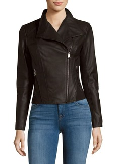 MARC NEW YORK by ANDREW MARC Felix Leather Moto Jacket