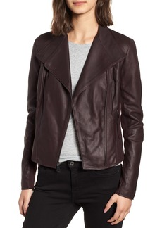 Marc New York by Andrew Marc Felix Stand Collar Leather Jacket