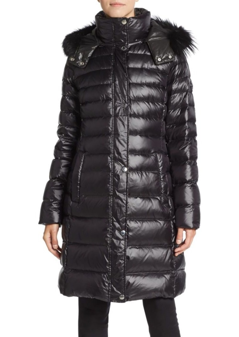 MARC NEW YORK by ANDREW MARC Fox Fur-Trimmed Long Puffer Coat