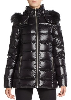 MARC NEW YORK by ANDREW MARC Fox Fur-Trimmed Puffer Coat