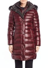Andrew Marc Gayle Fox Fur-Trimmed Puffer Coat