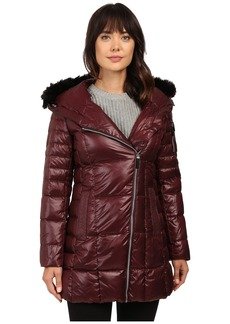 "Marc New York by Andrew Marc Jillian 32"" Laquer Puffer Faux Fur Coat"