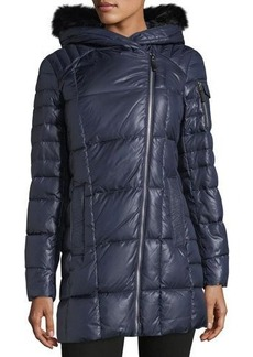 Marc New York by Andrew Marc Jillian Lacquer Asymmetric Puffer Jacket