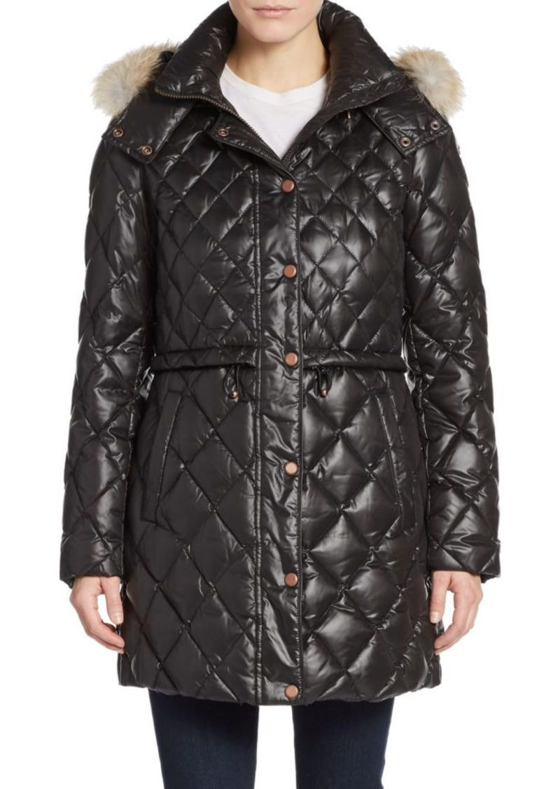MARC NEW YORK by ANDREW MARC Kavi Fur-Trimmed Hooded Down Jacket