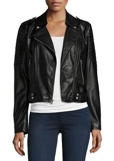 Marc New York by Andrew Marc Leanne Faux-Leather Moto Jacket