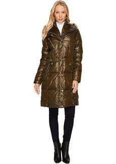 "Marc New York by Andrew Marc Leigh 37"" Lacquer Puffer Coat"