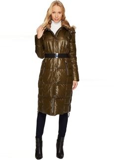 "Marc New York by Andrew Marc Liz 42"" Lacquer Puffer Maxi Coat"