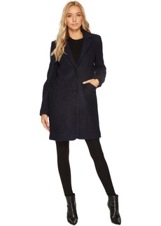 """Paige 35"""" Pressed Boucle Notch Collar Coat"""