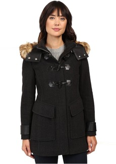 "Marc New York Paxton 30"" Wool Plush Toggle Faux Fur Coat"