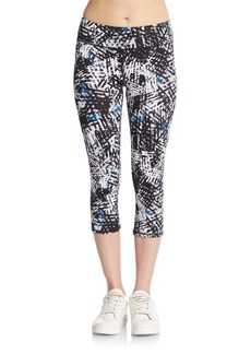 MARC NEW YORK by ANDREW MARC Performance Cropped Printed Leggings