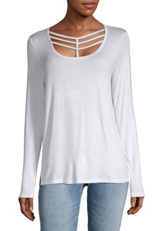 MARC NEW YORK by ANDREW MARC Performance Cutout Long-Sleeve Top