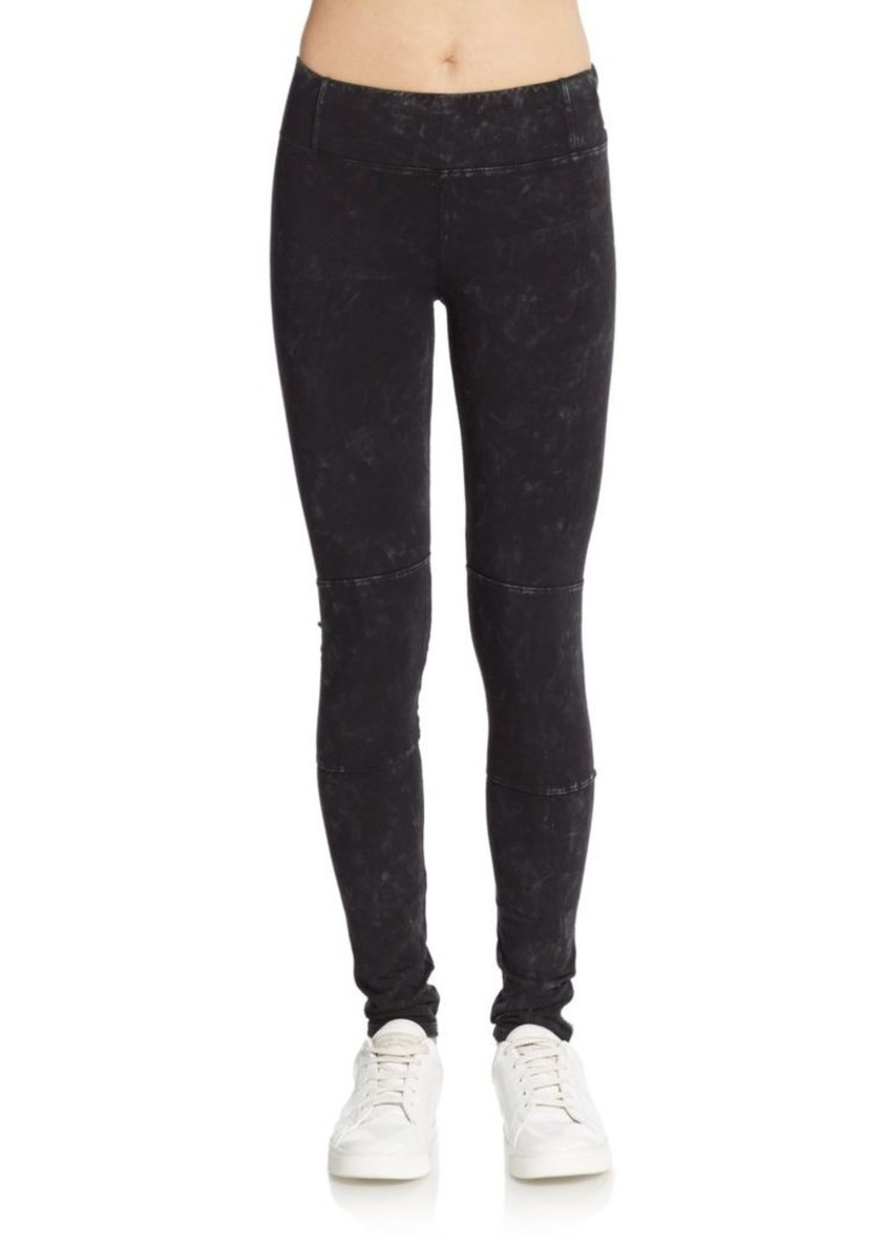 MARC NEW YORK by ANDREW MARC Performance Dyed Stretch Cotton Leggings