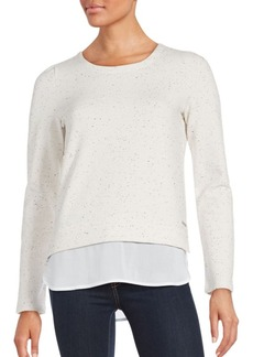 MARC NEW YORK by ANDREW MARC Performance Knit Layered Hem Top