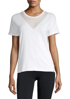 MARC NEW YORK by ANDREW MARC Performance Mesh-Insert Dolman-Sleeve Top