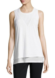 MARC NEW YORK by ANDREW MARC Performance Mesh Paneled Tank Top