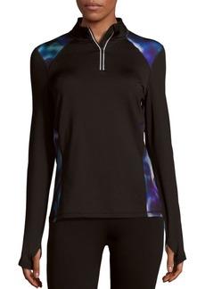 MARC NEW YORK by ANDREW MARC Performance Paneled Quarter-Zip Athletic Sweatshirt
