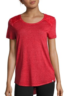 MARC NEW YORK by ANDREW MARC Performance Roundneck Short-Sleeve Hi-Lo Top