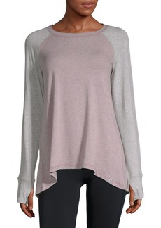 MARC NEW YORK by ANDREW MARC Performance Split Back Hi-Lo Top