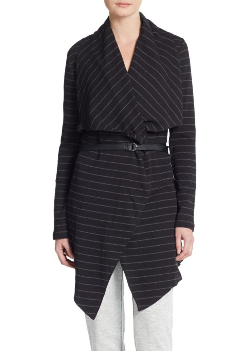 MARC NEW YORK by ANDREW MARC Performance Striped Belted Cardigan