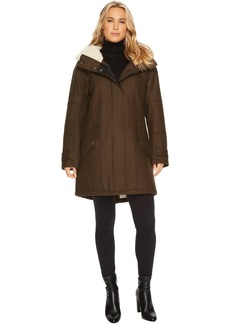 """Rachelle 34"""" Pressed Wool Coat"""
