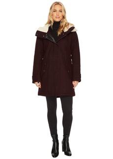 "Marc New York Rachelle 34"" Pressed Wool Coat"