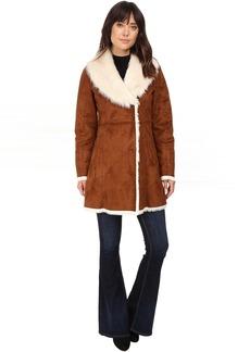 Sarah Faux Suede/Fur Coat