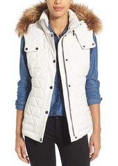 Marc New York by Andrew Marc 'Thea' Removable Faux Fur Collar Quilted Down Vest