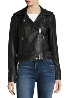 Marc New York by Andrew Marc Whitney Washed Leather Moto Jacket