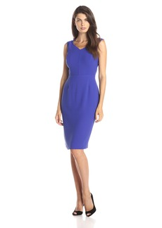 Marc New York by Andrew Marc Women's Cap Sleeve V-Neck Sheath Dress