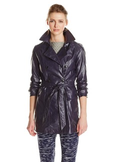 Marc New York by Andrew Marc Women's Coated Linen Trench Coat  X-Small