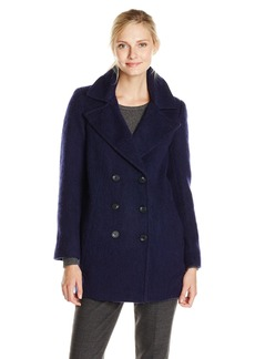 Marc New York by Andrew Marc Women's Effie Brushed Wool Double Breasted Coat