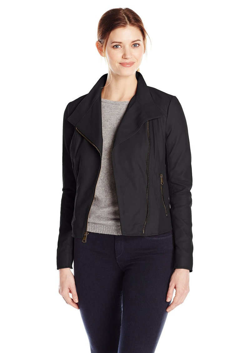 Marc New York by Andrew Marc Women's Feather Leather Moto Jacket