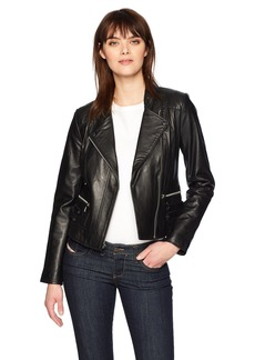 Marc New York by Andrew Marc Women's Ginny Leather Moto Jacket
