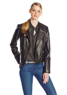 Marc New York by Andrew Marc Women's Ginny Leather Moto Jacket  X-Small