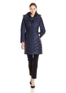 Marc New York by Andrew Marc Women's Karla Mid Length Chevron Down Coat  X-Large