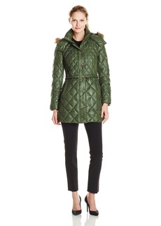 Marc New York by Andrew Marc Women's Kava Diamond Quilted Down Coat