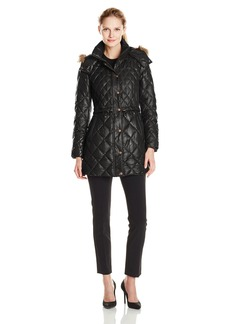Marc New York by Andrew Marc Women's Kava Diamond Quilted Down Coat  X-Small