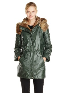 Marc New York by Andrew Marc Women's Lauren Coated Cotton Parka  X-Small