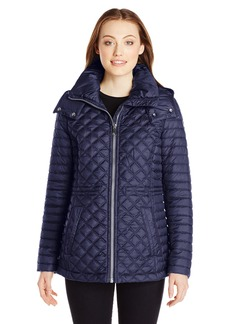 Marc New York by Andrew Marc Women's Lightweight Quilted Jacket with Hood
