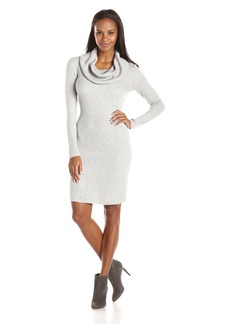 Marc New York by Andrew Marc Women's Long Sleeve Cowl Neck Sweater Dress