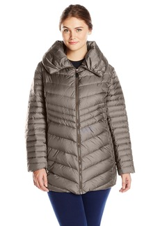 Marc New York by Andrew Marc Women's Plus-Size Kirby Chevron Down Coat