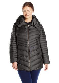 Marc New York by Andrew Marc Women's Plus-Size Kirby Chevron Down Coat