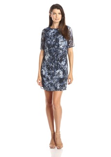 Marc New York by Andrew Marc Women's Short Sleeve Printed Popover Dress