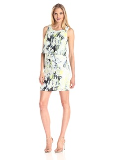 Marc New York by Andrew Marc Women's Sleeveless Monet Floral Printed Dress