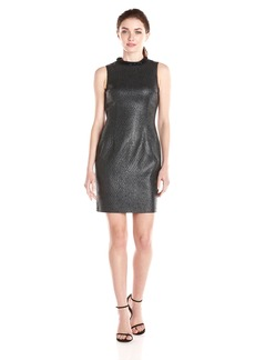 Marc New York by Andrew Marc Women's Sleeveless Sparkle Tweed Shift Dress