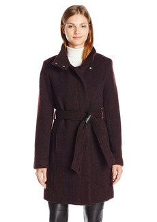 Marc New York by Andrew Marc Women's Tristina Wool 3/4 Length Coat with Belt