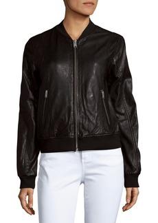 MARC NEW YORK by ANDREW MARC Wynn Leather Baseball Jacket