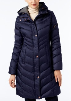 Marc New York Chevron Hooded Down Coat