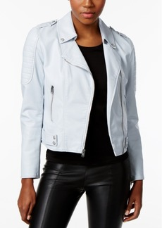 Marc New York Faux-Leather Moto Jacket